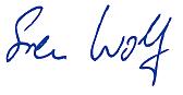 Unterschrift von Sven Wolf
