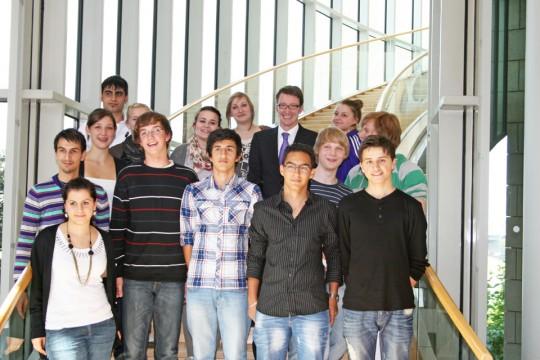 Remscheider Jugendrat zu Besuch im Landtag von NRW