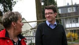 Sven Wolf Mdl beim Besuch der Kita Fuchsweg