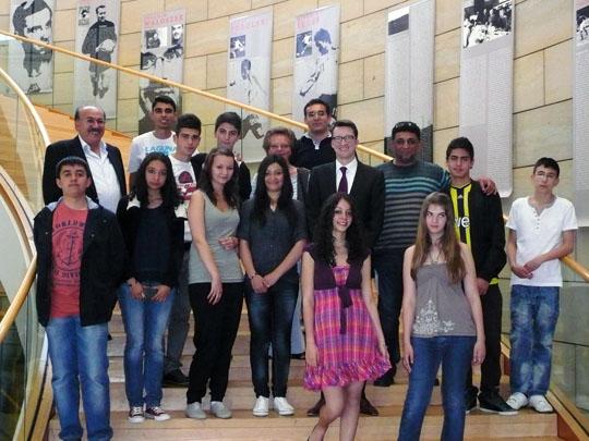 Schülergruppe aus Remscheid und Kirsehir
