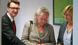Jutta Velte und Beatrice Schlieper von Bündnis90/Die Grünen