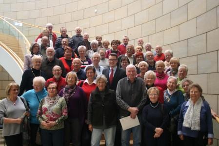 Remscheider SPD-Senioren besuchten Sven Wolf im Landtag