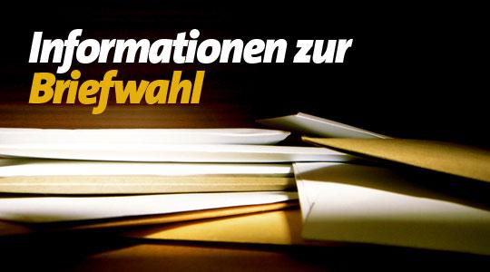Remscheid: Briefwahl, Direktwahl, Wahlunterlagen, Wahlschein, Briefwahlbüro