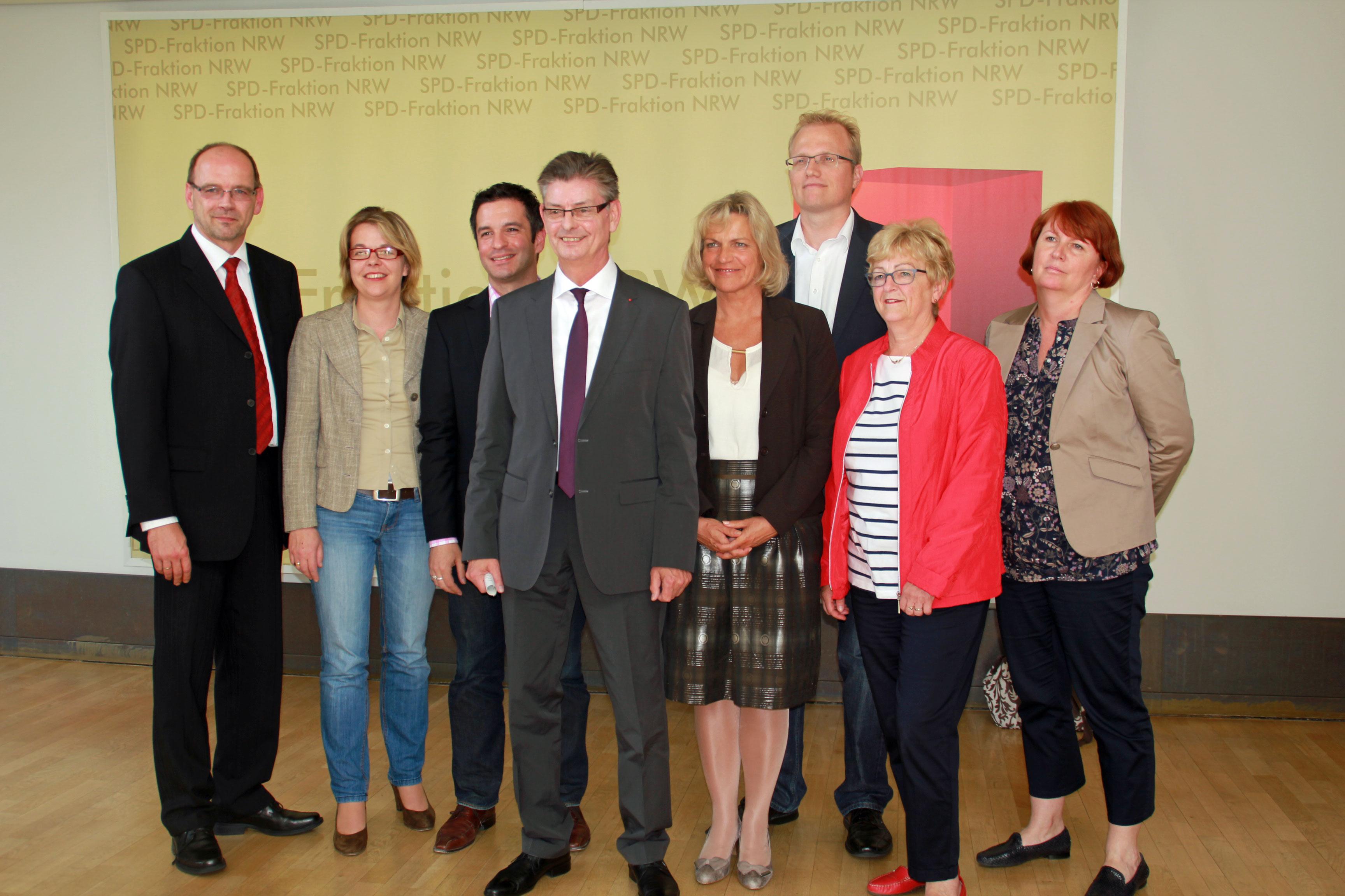 Fraktionsvorstand der SPD-Landtagsfraktion (es fehlt: Hans Willi Körfges)