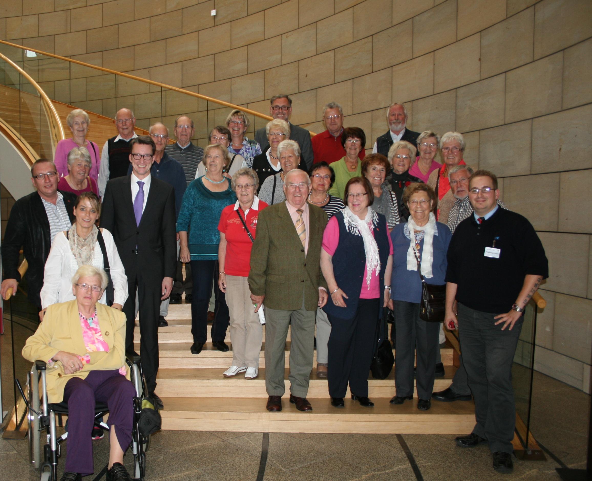 Besuchergruppe bei Sven Wolf im Landtagm am 02.10.2012.
