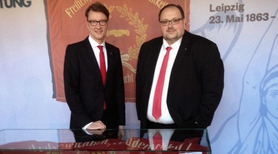 Sven Wolf und Sven Wiertz in Leipzig