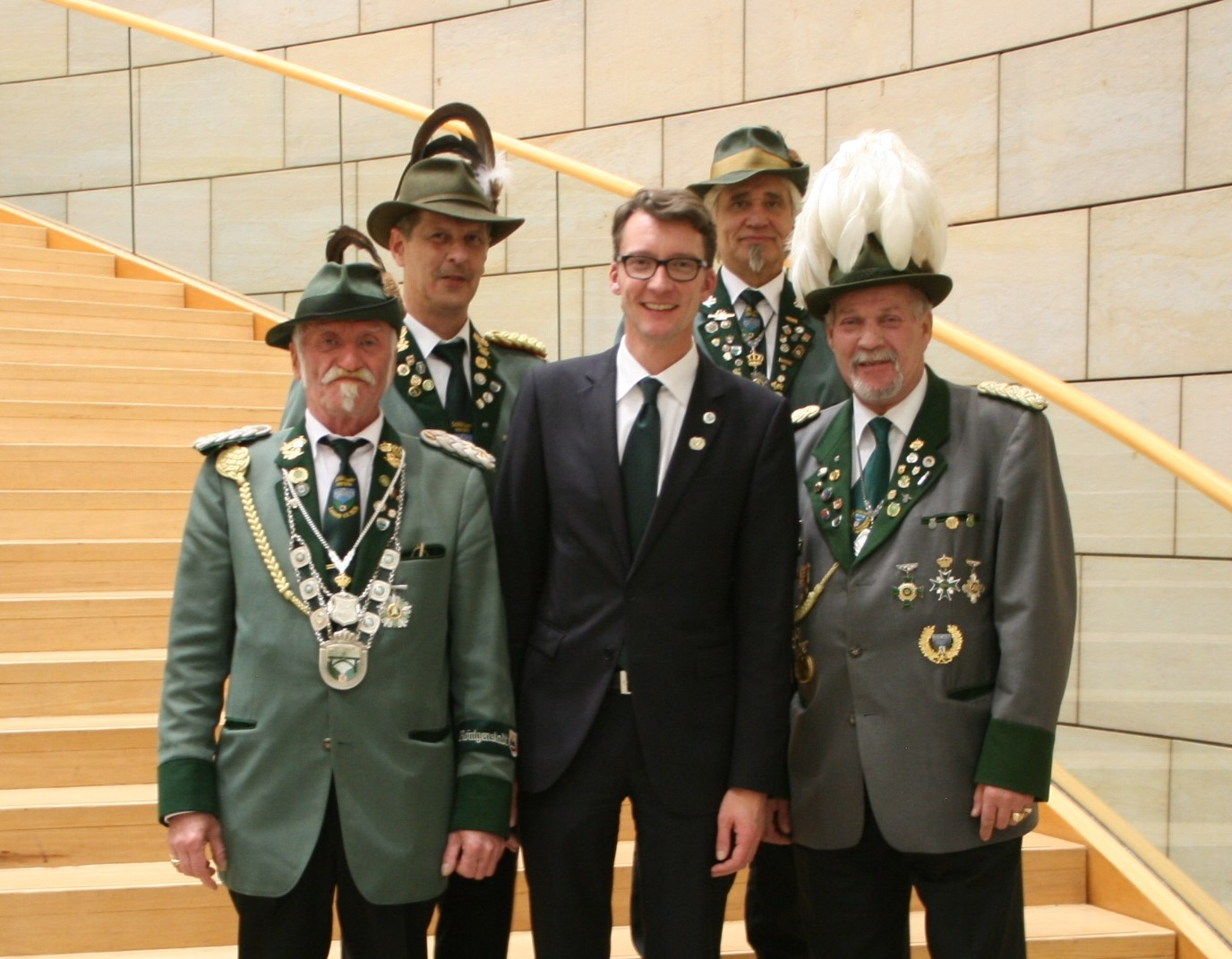 """Parlamentarischer Abend """"Schützenbrauchtum in NRW"""" am 05.11.2013 im Landtag mit Mitgliedern des Schützenvereins """"Eintracht Lennep 1928 e.V."""""""
