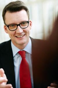 Sven Wolf im Gespräch vor der Landtagswahl