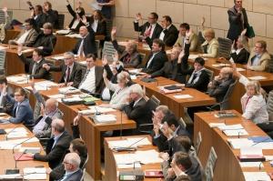 Abstimmung Plenum Landtag 2