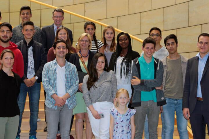 Besuch des Jugendrats Remscheid im Landtag-2016-20-06