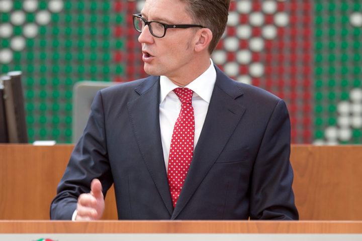 Sven Wolf im Plenarsaal des Landtags